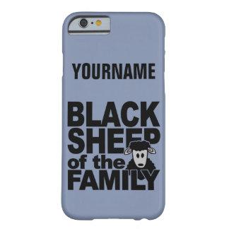 Casos del personalizado de las ovejas negras funda para iPhone 6 barely there