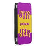 Casos del personalizado del amor/de la vida funda acolchada para móvil