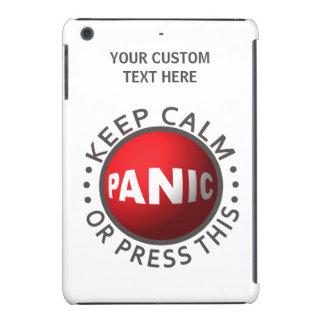 Casos del personalizado del botón de pánico carcasa para iPad mini