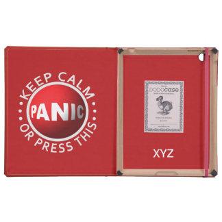 Casos del personalizado del botón de pánico iPad cárcasas