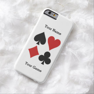 Casos del personalizado del jugador de tarjeta funda de iPhone 6 barely there