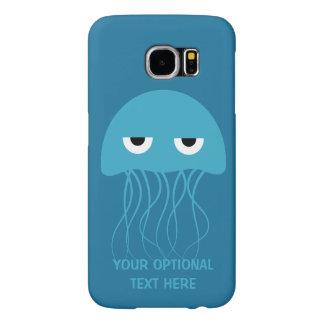 Casos divertidos del personalizado de las medusas fundas samsung galaxy s6