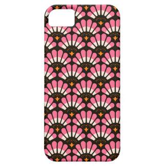 Casos en abanico del modelo del rosa y del negro iPhone 5 Case-Mate protectores