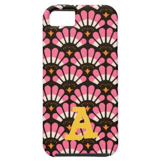 Casos en abanico del modelo del rosa y del negro iPhone 5 carcasas