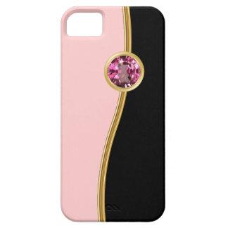 Casos femeninos rosados del iPhone de la joya iPhone 5 Case-Mate Cárcasa