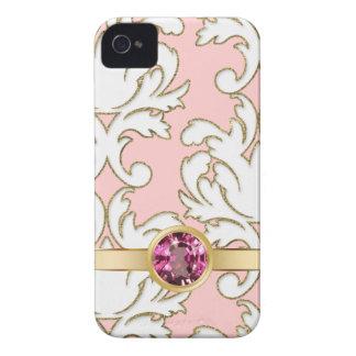 Casos femeninos rosados del iPhone de la joya iPhone 4 Carcasas
