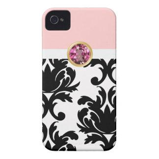 Casos femeninos rosados del iPhone de la joya iPhone 4 Protector