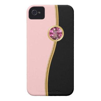 Casos femeninos rosados del iPhone de la joya Case-Mate iPhone 4 Carcasas