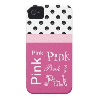 Casos femeninos rosados del iPhone de las cosas iPhone 4 Case-Mate Fundas