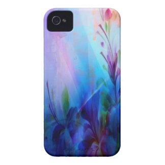 Casos florales Painterly del iPhone 4/4S de la iPhone 4 Carcasas