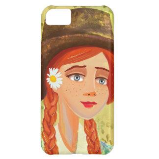 casos hermosos del iPhone 4 4S del chica del dibuj