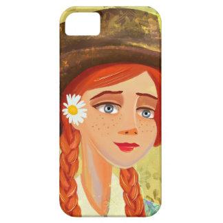 casos hermosos del iPhone 4/4S del chica del dibuj iPhone 5 Carcasas
