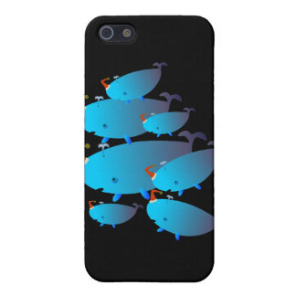 Casos lindos 001 de Iphone Familia de la ballena iPhone 5 Carcasa