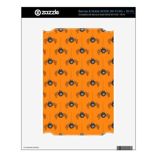 Casos lindos de Smartphone de la araña de Hallowee Calcomanía Para El NOOK