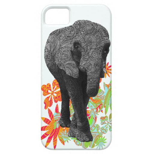 Casos lindos del elefante iPhone5 del Hippie iPhone 5 Carcasas