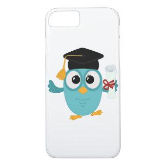 Casos lindos del iphone del búho graduado funda iPhone 7