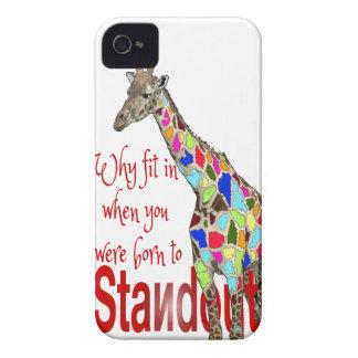 Casos lindos destacados del iphone de la jirafa iPhone 4 carcasa