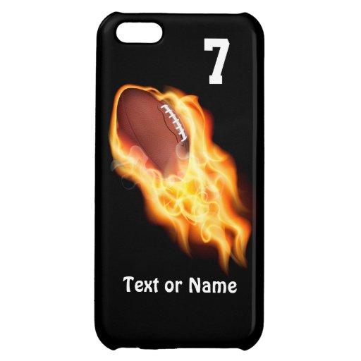 Casos llameantes frescos del iPhone 5C del fútbol