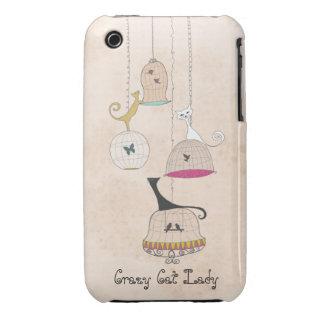 Casos locos del iphone 3G de los Birdcages de Case-Mate iPhone 3 Carcasa