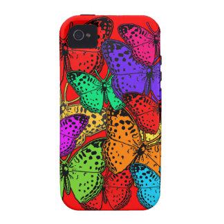 Casos multicolores de la electrónica de las maripo Case-Mate iPhone 4 carcasas