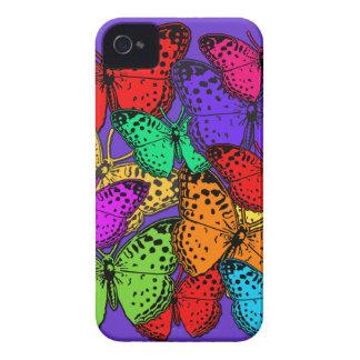 Casos multicolores de la electrónica de las maripo Case-Mate iPhone 4 carcasa