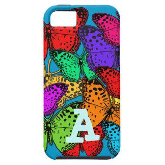 Casos multicolores de la electrónica de las maripo iPhone 5 cobertura