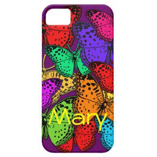 Casos multicolores de la electrónica de las maripo iPhone 5 Case-Mate cobertura