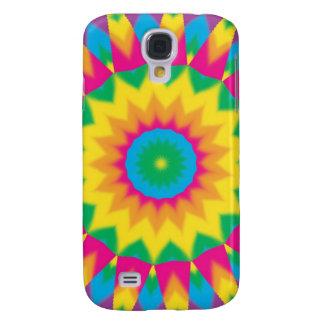 Casos retros del extracto del arte pop del Hippie  Funda Samsung S4