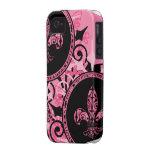 Casos rosados del iPhone de la flor de lis Vibe iPhone 4 Funda