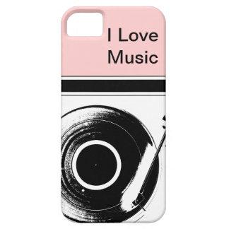 Casos rosados del iPhone de la música iPhone 5 Carcasas
