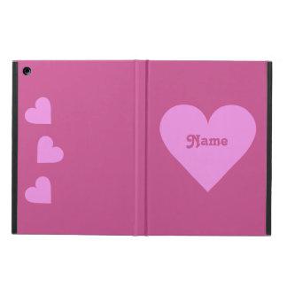Casos rosados del personalizado de la tarjeta del
