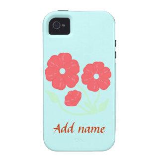 Casos rosados florales retros del iPhone iPhone 4/4S Fundas