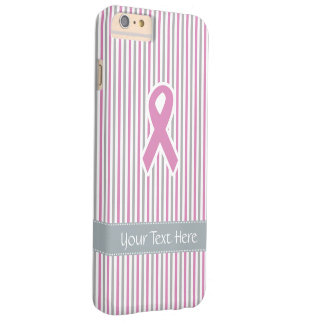 Casos rosados y de plata del personalizado de las funda de iPhone 6 plus barely there