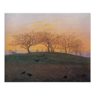 Caspar David Friedrich Hill Plowed Field Dresden Poster