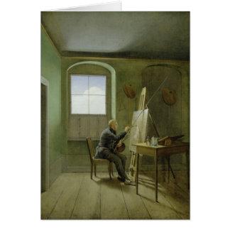 Caspar David Friedrich  in his studio, 1811 Card