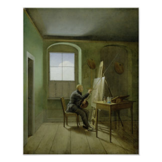 Caspar David Friedrich  in his studio, 1811 Poster