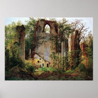 Caspar David Friedrich Monastery Ruins Eldena Poster