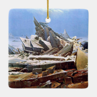 CASPAR DAVID FRIEDRICH - The sea of ice 1824 Ceramic Ornament