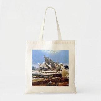 CASPAR DAVID FRIEDRICH - The sea of ice 1824 Tote Bag
