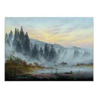 Caspar David Friedrich The Times of Day Morning Poster