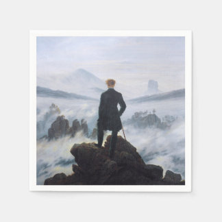 CASPAR DAVID FRIEDRICH - Wanderer above the sea Paper Napkin
