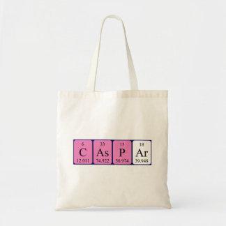 Caspar periodic table name tote bag