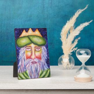 """""""Caspar"""" Three Kings Christmas Art Plaque"""
