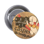 Casper and Haunted House 2 Inch Round Button