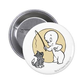 Casper and Kitten 2 Inch Round Button