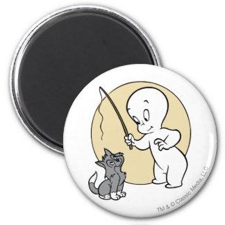 Casper and Kitten 2 Inch Round Magnet