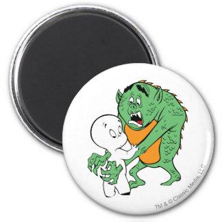 Casper and Monster 2 Inch Round Magnet