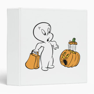 Casper and Pumpkin 2 3 Ring Binder