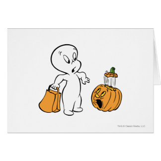 Casper and Pumpkin 2 Greeting Card