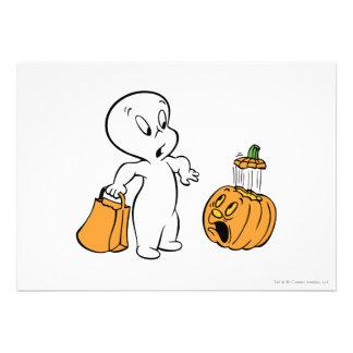 Casper and Pumpkin 2 Personalized Announcements